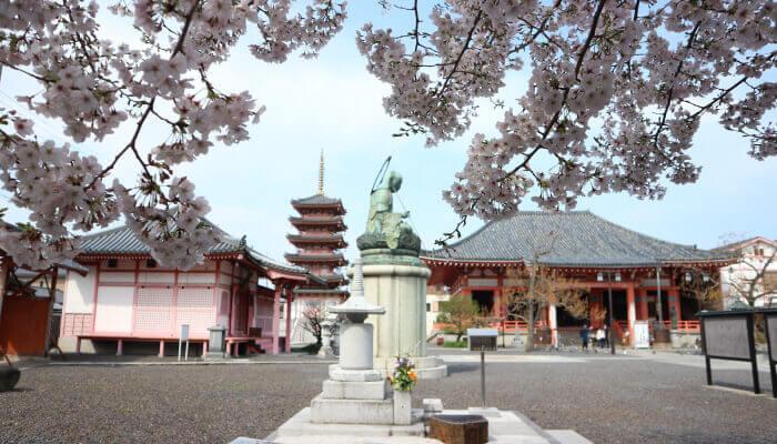 津観音と桜